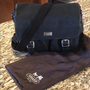 Coach black messenger bag